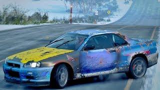 Forza Horizon 3 GoPro - Nissan Skyline R34 Do Ferro Velho Acelerando Na Neve - ZOIOOGAMER