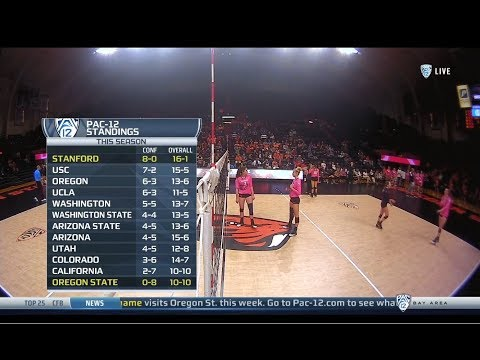Stanford V Oregon State, 10/19/2018, Women's Volleyball