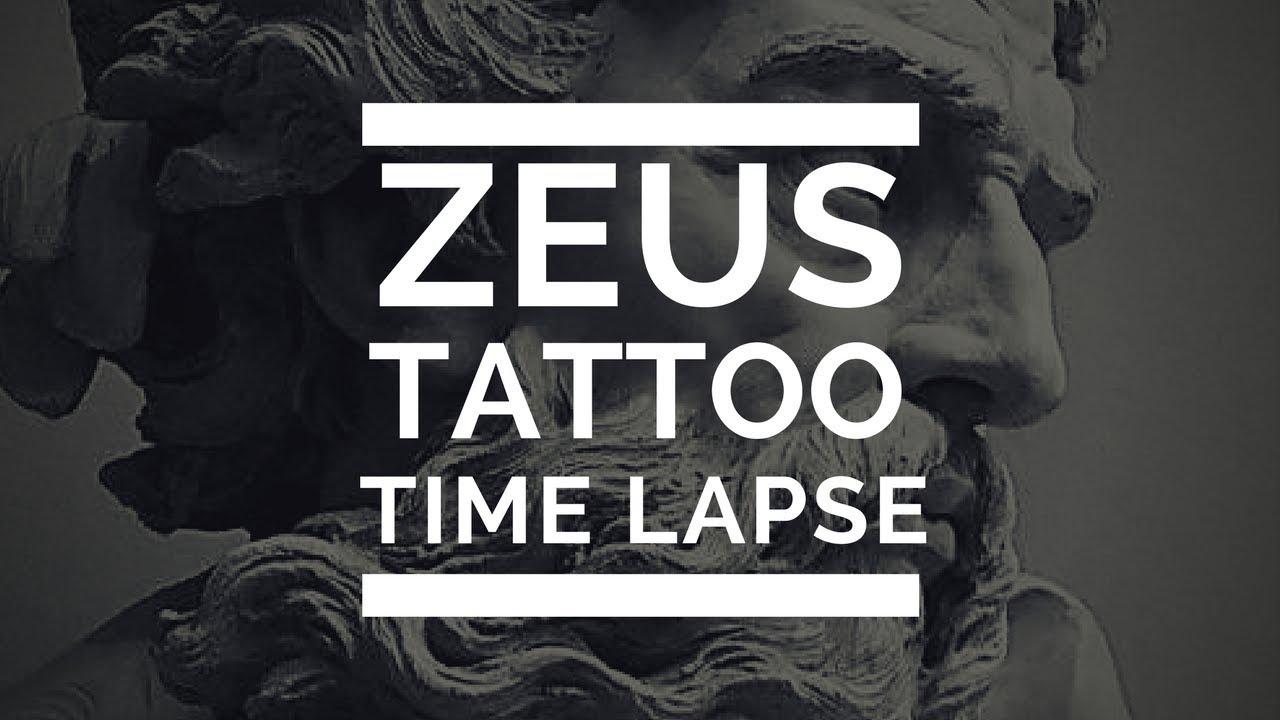 Zeus Tattoo Timelapse Tatuaje Dios Griego Tattoo Medellin