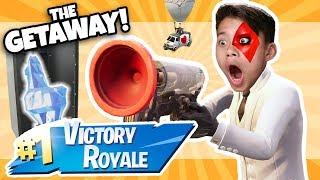 FORTNITE ME FEZ UMA PELE!!! The Getaway LTM Victory Royale brincando com Fan!