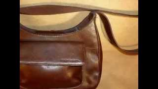 FOSSIL BROWN PURSE WITH BUILT-IN WALLET