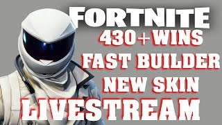 FORTNITE LIVESTREAM 430 WINS | FAST BUILDER | VBUCKS GIVEAWAY | NEW OVER TAKER SKIN | BATTLE ROYALE
