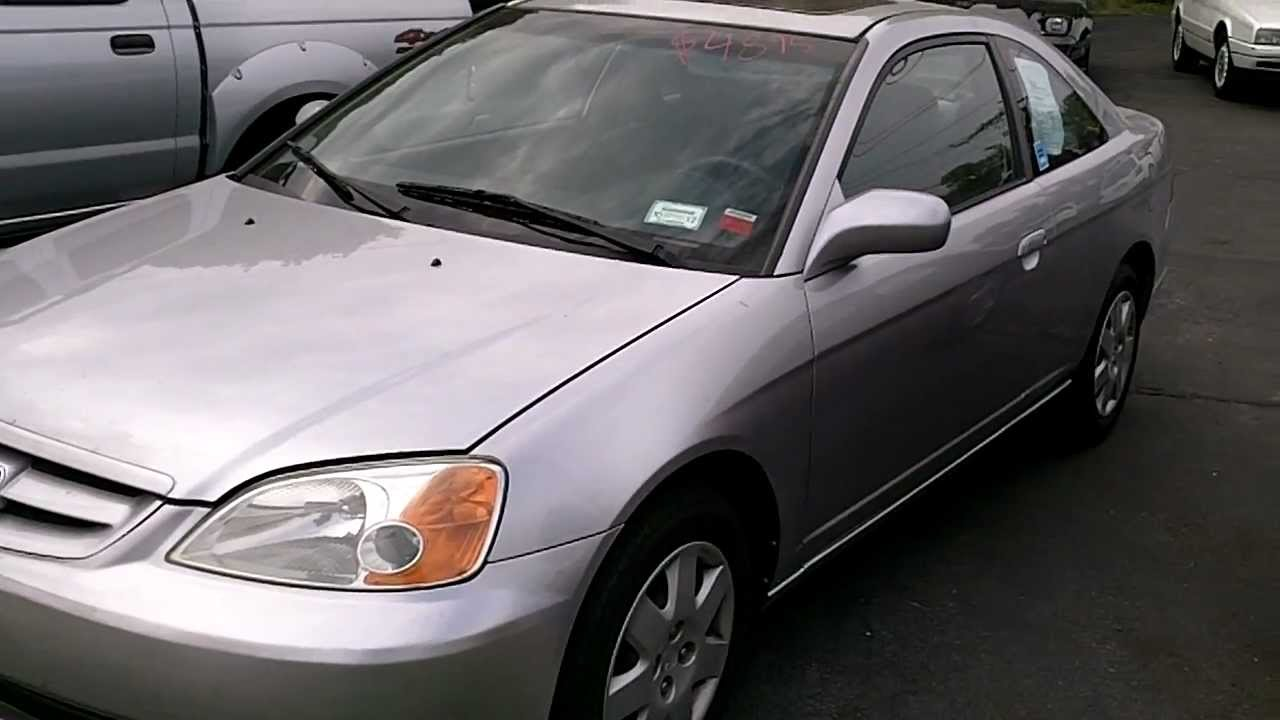 Honda Civic Coupe For Sale >> For Sale 2001 Honda Civic EX 2 Door COUPE - YouTube