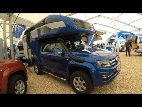 VW AMAROK V6 NEW MODEL 2017 CAMPER !!!! KORA OCEAN - GEHOCAB ! WALKAROUND + INTERIOR !