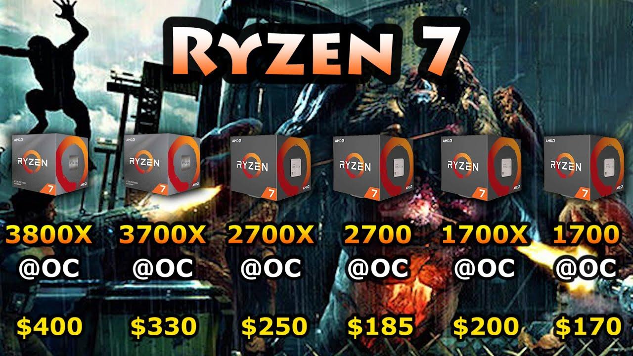 Ryzen 7 3800X vs 3700X vs 2700X vs 2700 vs 1700X vs 1700 | 1080p 1440p  Gameplay Benchmark Test