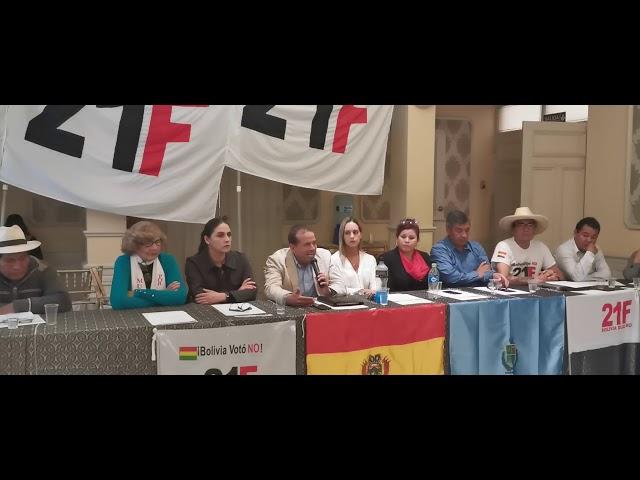 Reunión con sectores en Cochabamba
