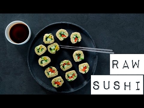 How I make raw SUSHI | vegan recipe