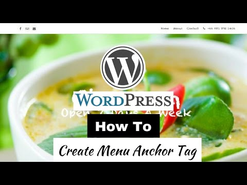 How To Create Wordpress Anchor Tag | How to create menu item anchor tag | Wordpress Anchor Tag Setup