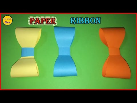 How to make a paper Ribbon - Easy origami Bow for beginners - DIY - Tutoria #08