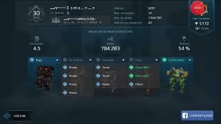 War robots - PATTON 4 PINATAS LVL 12 /1MILION SCORE😎