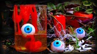 Как сделать глаза, слизь и паутину для Хэллоуина своими руками