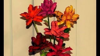 Recycled Diy: How To Convert Peanut (groundnut) Shells Into A Colorful Flowers?