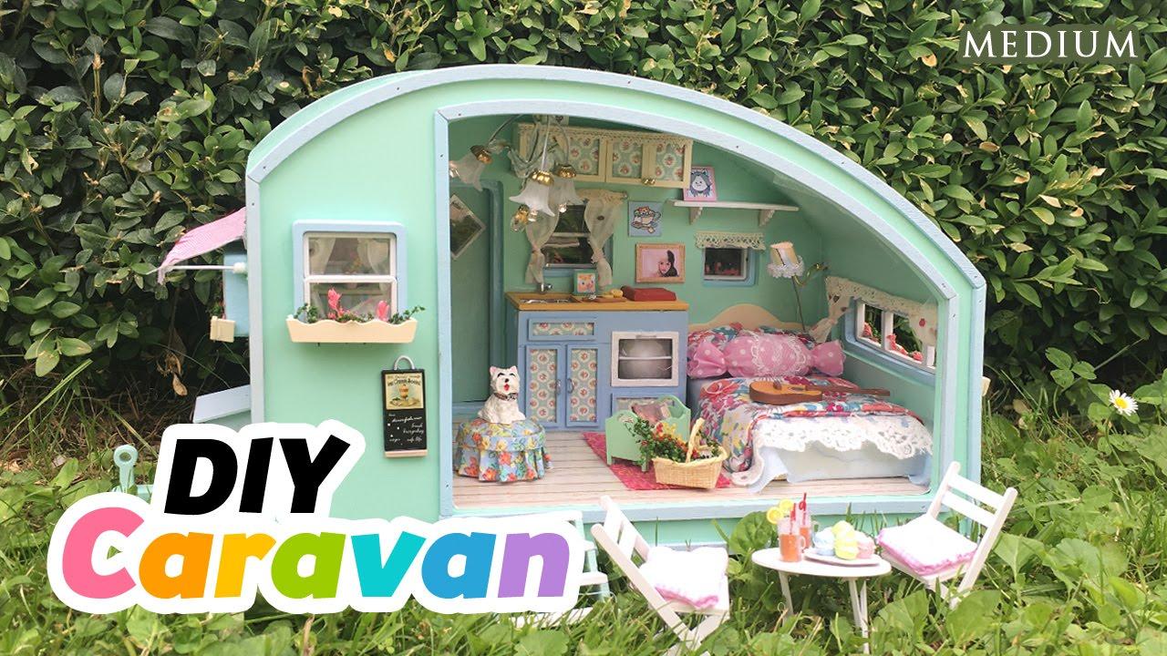 diy dollhouse summer caravan super relaxing miniature. Black Bedroom Furniture Sets. Home Design Ideas