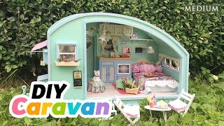 DIY Dollhouse Summer Caravan - Super Relaxing Miniature Tutorial