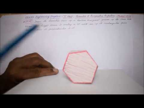 Isometric view of a Hexagonal Prism - M5.03 - Engineering Graphics in Tamil