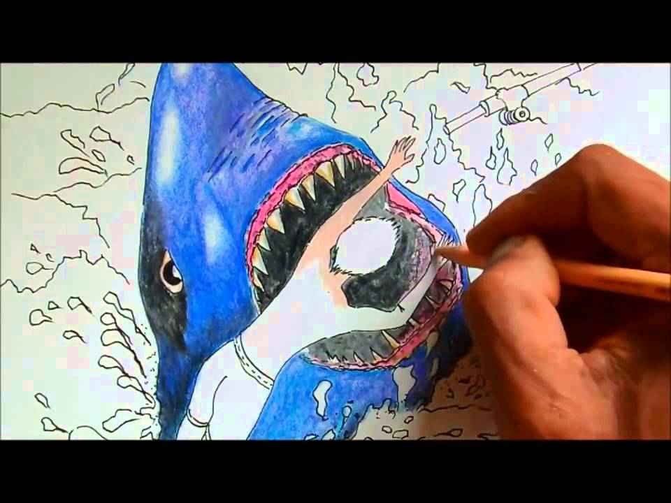 how to draw a shark video