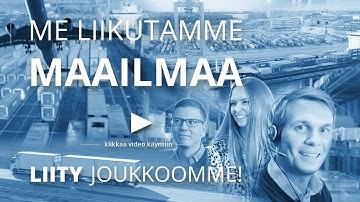 Huolinta- ja logistiikka-ala: ME LIIKUTAMME MAAILMAA - LIITY JOUKKOOMME!
