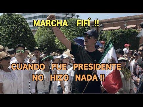 Vicente Fox Patéticamente Marcha Exigiendo Seguridad !! MARCHA  FIFÍ  !!