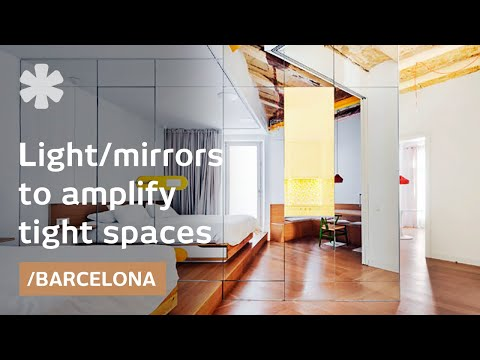 Barcelona's Dark Flat Gets Brighter Using Kaleidoscopic Core
