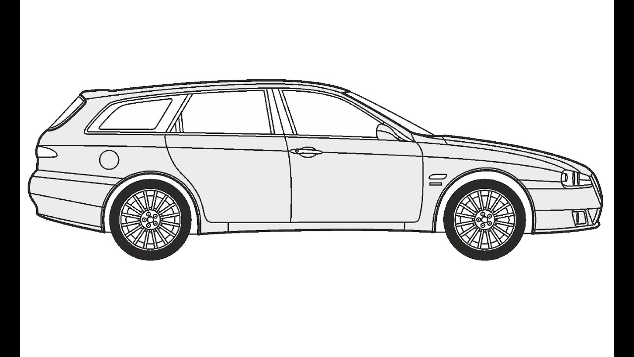 How to Draw an Alfa Romeo Sportwagon / Как нарисовать Alfa