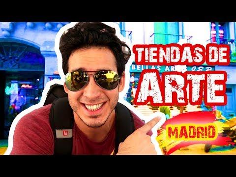 Visitando Tiendas de Arte en Madrid - España | Explorando la Ciudad | No hay Prismacolor Vlog