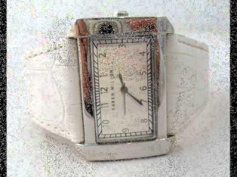 Ladies Karen Millen Designer Fashion Watch.wmv