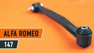 Oglejte si kako rešiti težavo z spredaj desni Zglob stabilizatorja ALFA ROMEO: video vodič