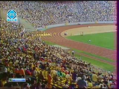 1976 Olympic Games Montreal. Men's 100 m Semifinals and Finals.