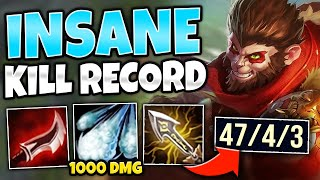 *ONE SHOT ON REPEAT* MID WUKONG TERRORIZES EVERYONE (47 KILLS) - League of Legends