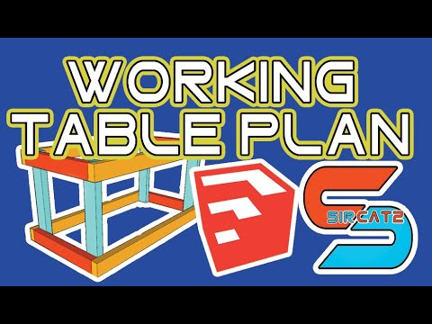 Working Table | SketchUp Plan | Part 1 - YouTube