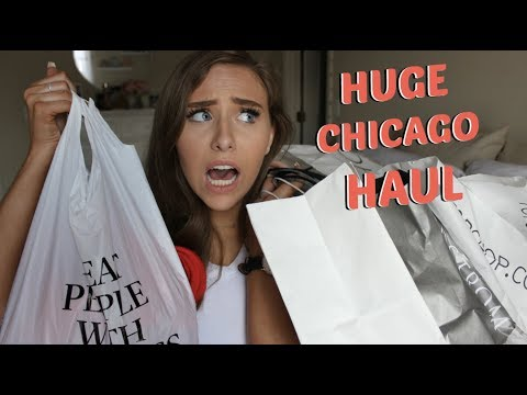 HUGE CHICAGO TRY ON HAUL | TOPSHOP, BRANDY MELVILLE, & MORE!