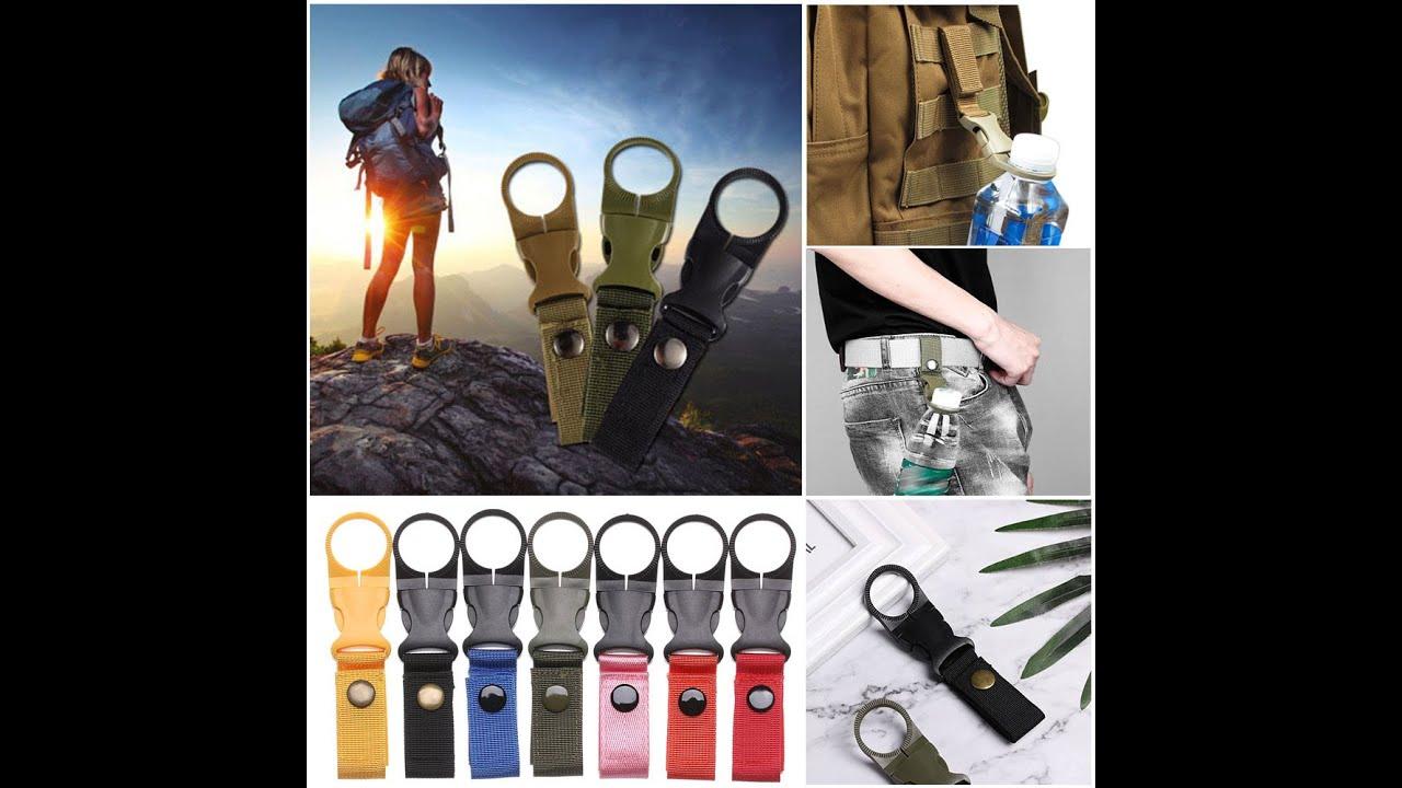 EDC Tactical Gear Nylon Webbing for Outdoor Tools Buckle Hook Water Bottle Holder Belt Clip