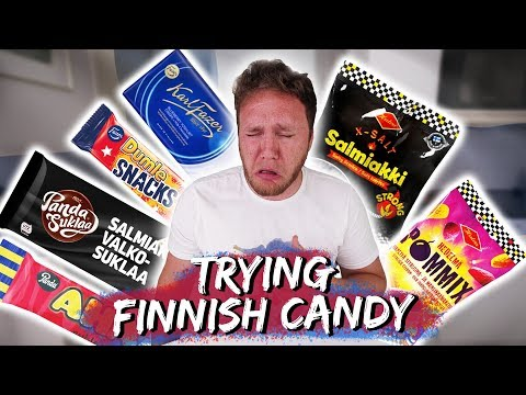 trying finnish candy taste