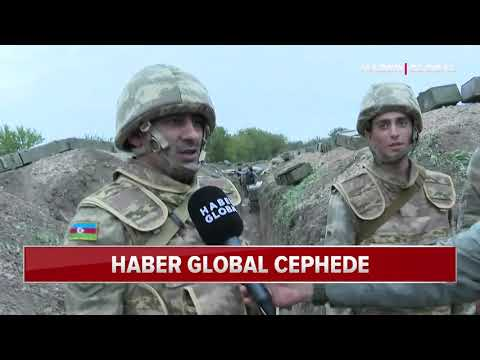Haber Global, Cephe Hattındaki Askerlerle Konuştu. Azerbaycanlı Askerlerden Türkiye'ye Mesaj Var.
