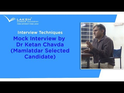 GPSC Mock interview By  Dr. Ketan Chavda (TDO Selected Candidate)