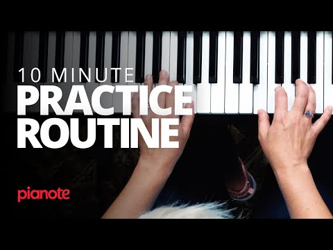 You Aren't Too Busy To Practice Piano (10 Minute Practice Routine)