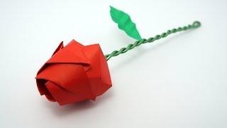 Repeat youtube video Origami Rose tutorial (Davor Vinko)
