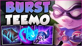 I MAY BE TINY BUT MY BURST IS NOT! BURST TEEMO IS 100% DUMB! TEEMO TOP GAMEPLAY! - League of Legends