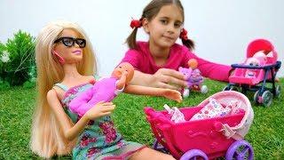 Барби - воспитатель в детском саду. Видео для девочек