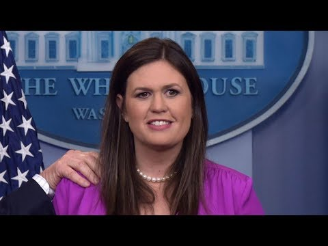 """Sarah Sander gets heated over question Regarding Voter Fraud """"He is allowed to Have his opinion"""""""