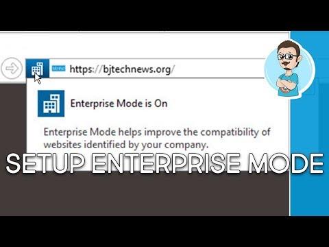 How To Use Enterprise Mode Internet Explorer 11   Windows 10!