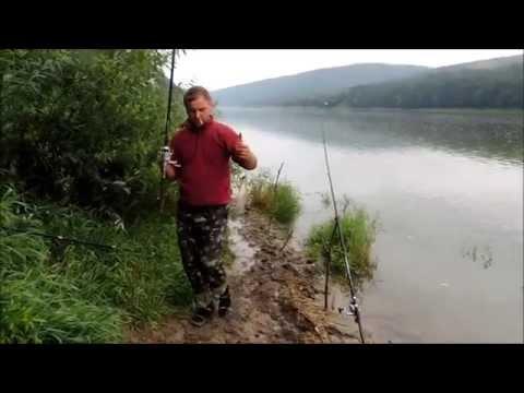 ловля на рыболовный пластилин видео