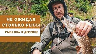 Рыбалка в деревне Не ожидал столько щуки Ультралайт на малой реке