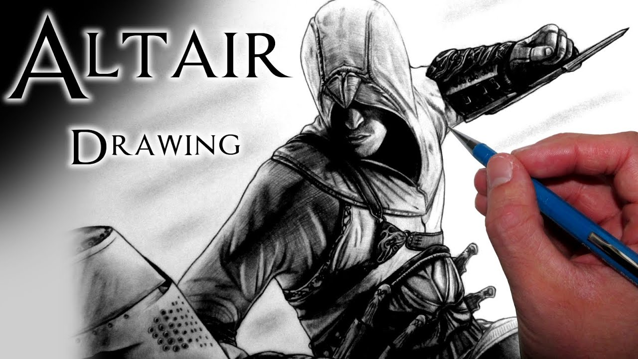 Altair Drawing - Assassin's Creed Fan Art Time Lapse - YouTube