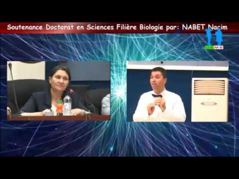 Débat autour de la Soutenance de doctorat en Sciences, par: NABET Nacim - part 02
