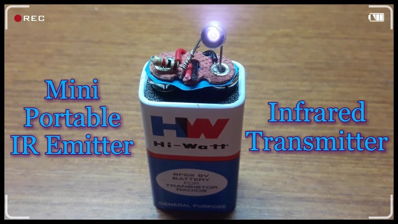 How To Make An Infrared Emitter Youtube Ir Transmitter Circuit