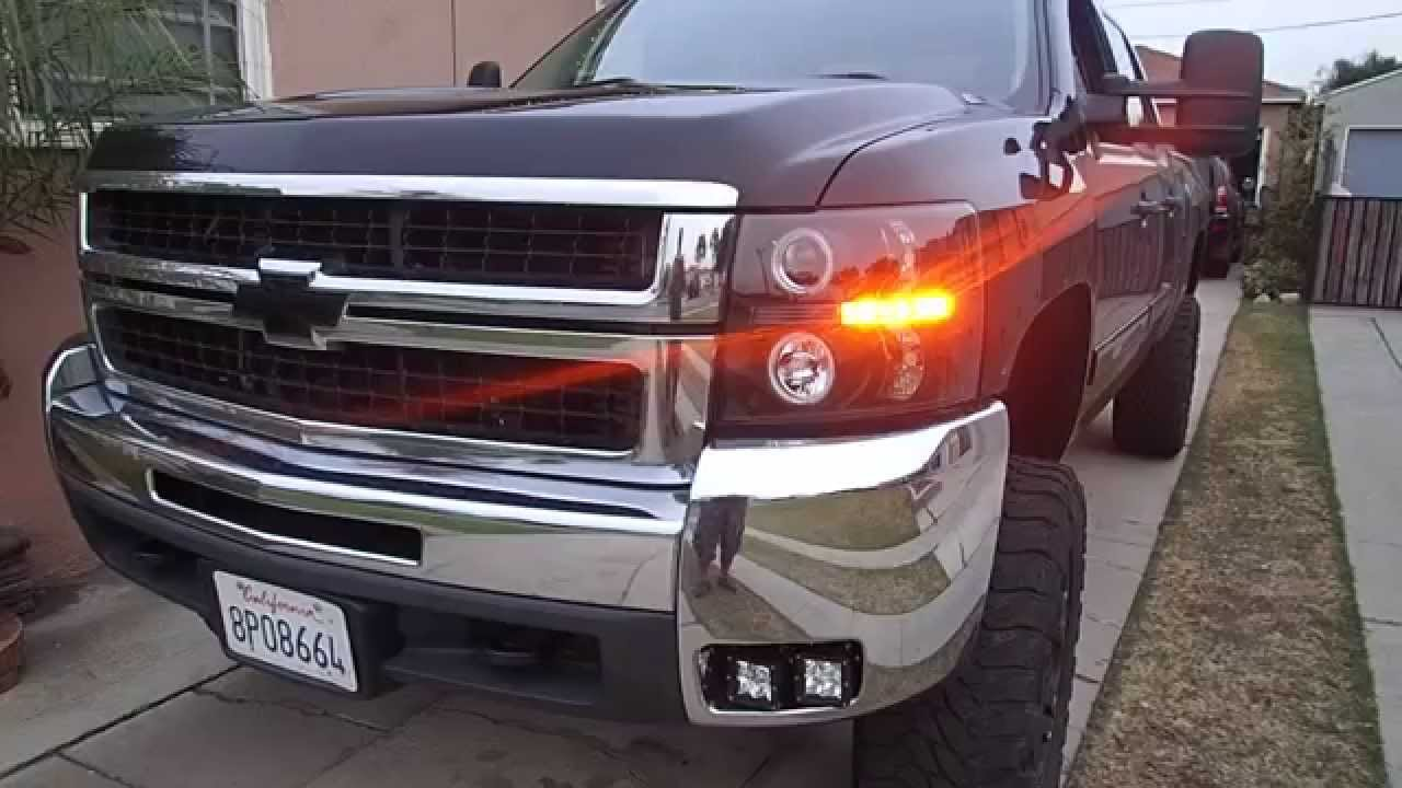 Chevy Silverado Rigid Led Fog Lights Youtube