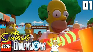 """""""GUATEMALAN INSANITY PEPPER!!!"""" LEGO Dimensions SIMPSONS LEVEL PACK Part 01 - 1080p HD PS4 Gameplay"""