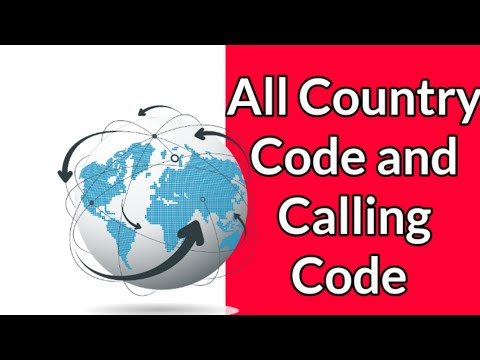 All Country Codes And Calling Codes | Country Codes Of All Country
