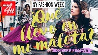 HAUL: ¿Qué llevo en mi maleta para New York Fashion Week?   Con Paula Moya